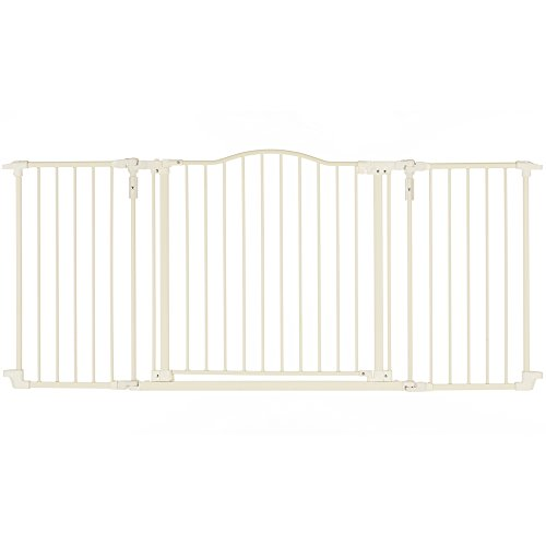 """Deluxe Décor Gate, Soft white Collection"" by North States: Beautiful gate that provides safety and one-hand functionality. Hardware mount. Fits openings 38.3"" to 72"" (30"" tall, Soft white)"
