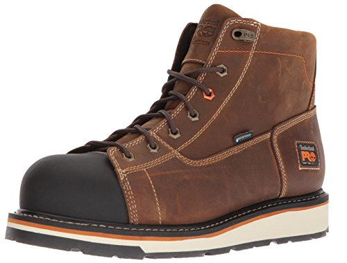 Timberland PRO Men's Gridworks Soft Toe Waterproof Industrial Boot, Brown, 10 M US