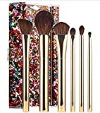 Sephora Collection Glitter O'Clock Brush Set, Limited-Edition Six Full Face Brushes and Clutch