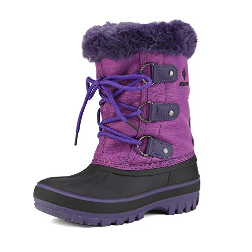 DREAM PAIRS Little Kid Forester Purple Ankle Winter Snow Boots Size 3 M US Little Kid