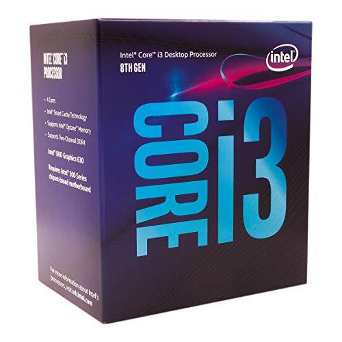Intel Core i3-8100 Desktop Processor 4 Cores up to 3.6 GHz Turbo Unlocked LGA1151 300 Series 95W