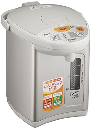 ZOJIRUSHI Automatic Hot Water Dispenser 2.2L Gray CD-WX22-HA