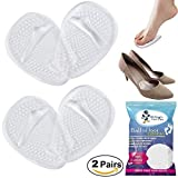 Medical Gel Forefoot Ball of Foot Cushions Shoe Insoles Metatarsal Pads women shoe inserts for foot Pain Relief, 2 Pairs (4 Pieces). Dr.Eagle foot care () Golden Eagles