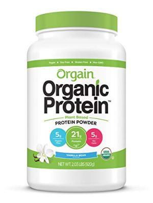 Orgain Organic Protein Plant Based Powder, Sweet Vanilla Bean, 2.03 lbs (920 g)