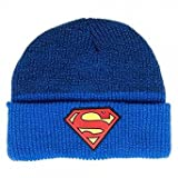 DC Comics Superman Logo Marled Cuff Winter Beanie Hat