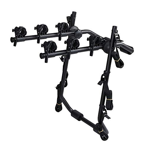 Overdrive Sport 3-Bike Trunk Mounted Bicycle Carrier Rack - Fits Most Sedans, Hatchbacks, Minivans and SUVs