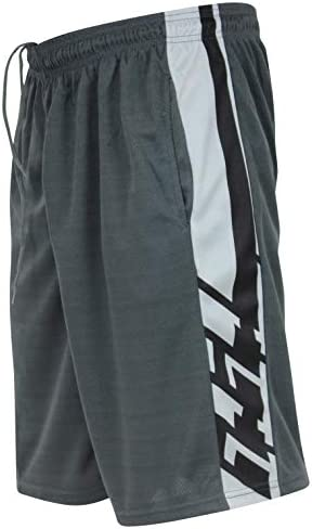 Real Essentials Men's Active Athletic Performance Shorts with Pockets - 5 Pack 6