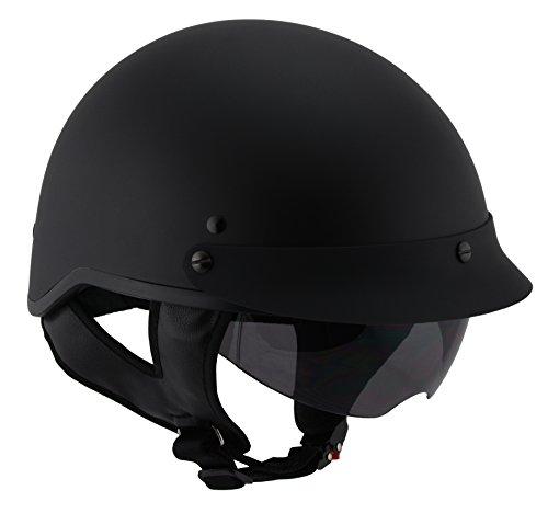 Milwaukee Performance Helmets Unisex-Adult Half Momentum Helmet (Matte Black, Large)