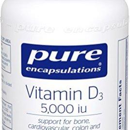 Pure Encapsulations – Vitamin D3 5,000 IU – Hypoallergenic Support for Bone, Breast, Prostate, Cardiovascular, Colon and Immune Health* – 120 Capsules