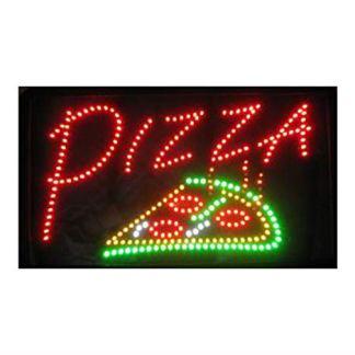 """'SSS l' originale–chiaro blinkendes–Targa con la scritta""""Pizza, Neon LED animiertes, Display sottile Shop da appendere per interni, 54cm x 31cm x 2cm"""