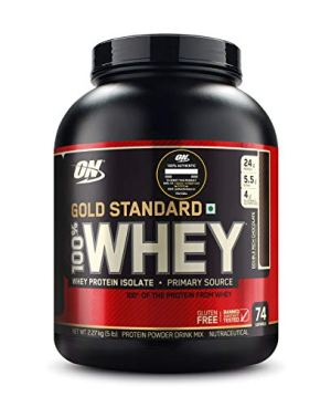 Optimum Nutrition (ON) Gold Standard 100% Whey Protein Powder – 5 lbs, 2.27 kg (Double Rich Chocolate)