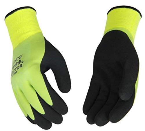 Kinco 1786P Hydroflector Waterproof, Double Thermal Shell & Double-Coated Latex Gloves. Warm, Waterproof, Winter Glove with Incredible Grip and Dexterity. Perfect for Ice & Fly Fishing!! (XL)