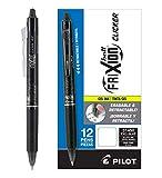 Pilot FriXion Clicker Retractable Erasable Gel Pens, Fine Point, Black Ink, Dozen Box (31450)