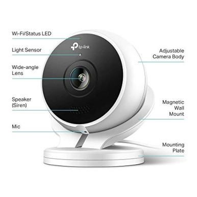 Kasa-Smart-KC200-Outdoor-Camera-by-TP-Link-1080p-HD-Smart-Home-Security-Camera-with-Night-Vision-Built-in-Siren-2-Way-Audio-Motion-Detection-Works-with-Alexa-Google-Home