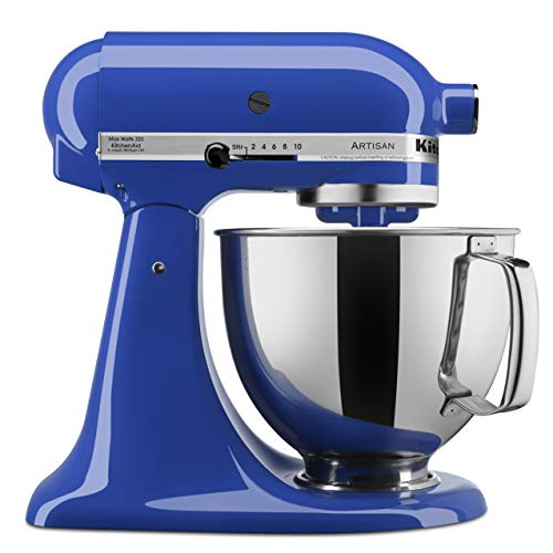 KitchenAid KSM150PSTB Artisan Series Stand Mixer with Pouring Shield, 5 quart, Twilight Blue