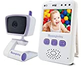 Baby Monitor with Camera and Audio by Moonybaby, Long Battery Life, Long Range, Non-WiFi, Color Screen, Auto Night Vision, Two Way Talk Back, Zoom in, Power Saving, VOX (Voice Activation) & Lullabies