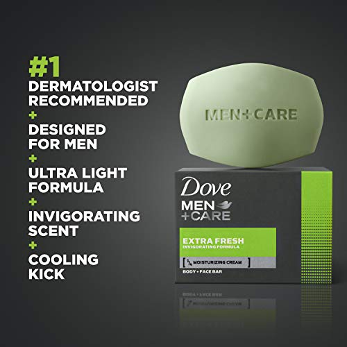 Dove Men+Care 3 in 1 Bar To Clean and Hydrate Skin Extra Fresh More Moisturizing Than Bar Soap 3.75 oz 10 Bars 6