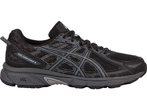 ASICS Mens Gel-Venture 6 Running Shoe, Black/Phantom/Mid Grey, 12 Medium US