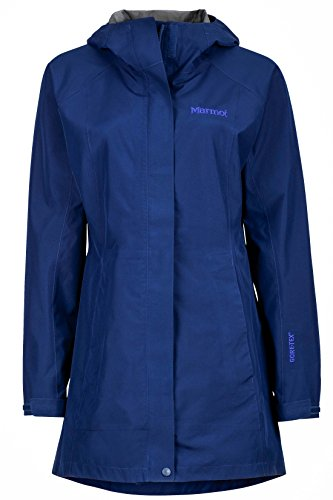 Marmot Essential Women's Lightweight Waterproof Rain Jacket, Gore-TEX with Paclite Technology, Arctic Navy, Medium