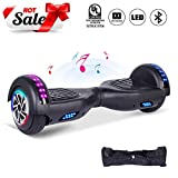 CBD 6.5' Hoverboard for Kids, Two Wheels Self-Balancing Electric Scooter with Bluetooth and LED Lights,Smart Hover Board - UL2272 Certified (Ultimate Series - Black)