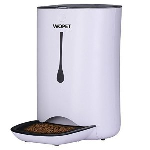 WOPET Automatic Pet Feeder Food Dispenser for Cats and Dogs–Features: Distribution Alarms, Portion Control, Voice… 1