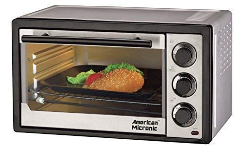 American Micronic - 15 Liters Oven Toaster Griller OTG 230V Ac, 1300W, 60 Minutes Timer - Black 125