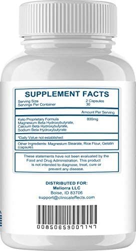 Clinical Effects: Keto Support BHBoost - Dietary Supplement for Keto Weight Loss - 60 Capsules per Bottle - 3 Bottles - Fat Burner Support - Exogenous Ketones - Restore Electrolytes and Boost Energy 4