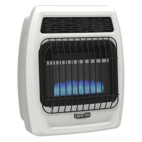 Dyna-Glo BFSS10LPT-2P 10,000 Liquid Propane Thermostatic 10K BTU LP Blue Flame Vent Free T-stat Wall Heater