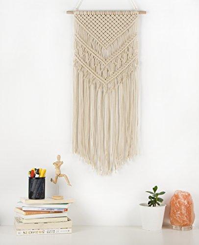 TIMEYARD Macrame Woven Wall Hanging – Boho Chic Bohemian Home ...