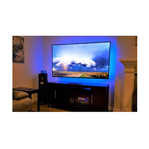 Bason TV Led Backlight, RGBW LED Strip Lights for 60'-70' TV, USB Power LED Light Strip with Remote Control, Color Changing Lights for Entertainment Center Room Decorations, Home Movie Theater Decor.