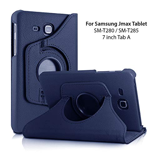 Infomatica 360 Degree Rotating Leather Case Cover Stand for Samsung Galaxy Tab J Max/Tab A 7 inch T285 T280 (Blue) 147