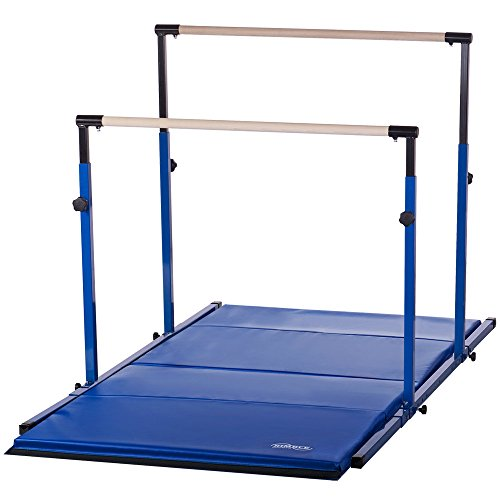 Nimble Sports '3Play' Horizontal Bars with 8ft Blue Mat Combo