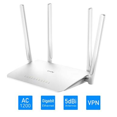 Cudy-AC1200-Gigabit-Smart-WiFi-Router-Dual-Band-1200Mbps-24GHz-5GHz-Wireless-1000Mbps-LAN-5-dBi-Antenna-for-Long-Range-Customized-OpenWrtLEDE-pre-Installed-VPN-USB-30-WR1300