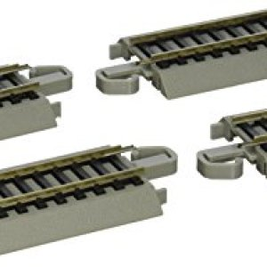 Bachmann Trains – Snap-Fit E-Z TRACK 3″ STRAIGHT TRACK (4/card) – NICKEL SILVER Rail With Gray Roadbed – HO Scale 41005Jhk9YL