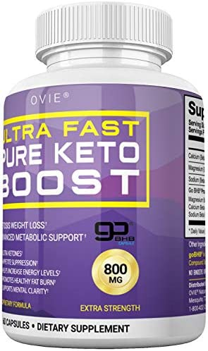 Ultra Fast Keto Boost - Advanced Clinically-researched Patented GoBHB Pure BHB Salts (beta hydroxybutyrate) - 800mg Keto Diet Pills - Best Ketosis Ketogenic Supplement; 60 Capsules; 30 Day Supply 6