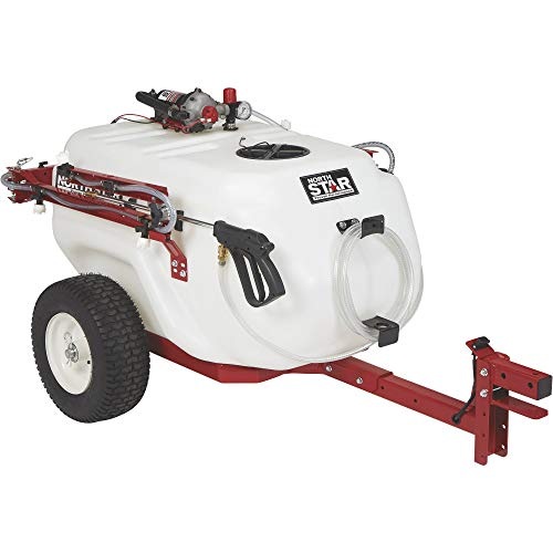 NorthStar Tow-Behind Trailer Boom Broadcast and Spot Sprayer — 61-Gallon Capacity, 5.5 GPM, 12V DC
