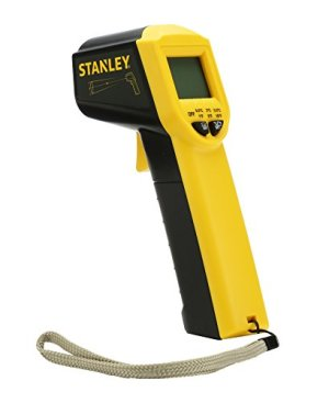 STANLEY STHT0-77365 High Accuracy Digital Infrared Thermometer with -38°C to 520°C temperature range and IP 20 for dust protection