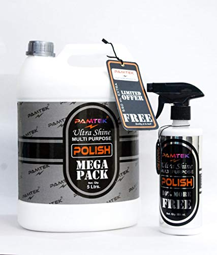 pamtek light oxidation ultra shine multipurpose wax formulated to remove fine scratches liquid car polish 5 liter 550 ml extra free car and bike care car and bike care