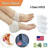 Heel Cups, Plantar Fasciitis Inserts, Heel Pads Cushion (3 Pairs) Great for Heel Pain, Heal Dry Cracked Heels, Achilles Tendinitis, for Men & Women.