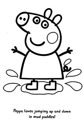 Amazon Com Peppa Pig On The Go Coloring Pouch Activity Set With Stickers Coloring Pages And Coloring Wheel Office Products