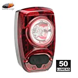 Cygolite Hotshot- 50 Lumen Bike Tail Light- 6 Night & Daytime Modes- User Tuneable Flash Speed- Compact Design- IP64 Water Resistant- Secured Hard Mount- USB Rechargeable- Great for Busy Roads