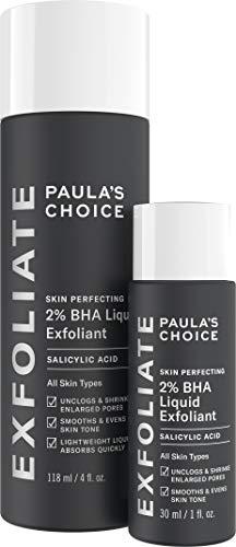 Paula's Choice Skin Perfecting 2% BHA Liquid Salicylic Acid Exfoliant Duo, Gentle Exfoliator for Blackheads