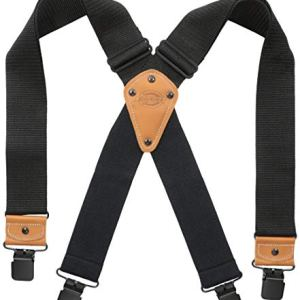 Dickies Industrial Strength Suspenders – Men's Wide Adjustable Thick Strap Clips for Work Heavy Duty Pants