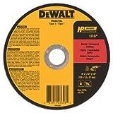 """DEWALT DWA8726L T1 HP Long Life Cut-Off Wheel, 6"""" x 1/16"""" x 7/8"""""""
