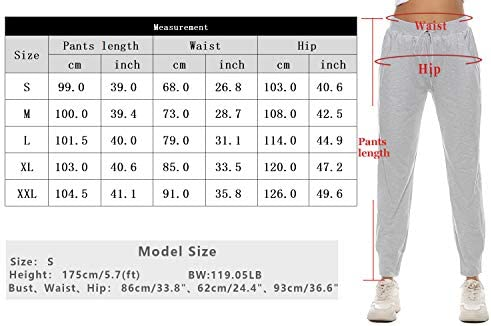 Sykooria Women's Jogger Pants Athletic Sweatpants Active Yoga Lounge Drawstring Workout Running Sports Trousers with Pockets 7