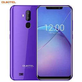 "OUKITEL Unlocked Smartphones, Cell Phones Unlocked Android Phones with Dual Sim 6.18"" Notch Display, Face ID…"