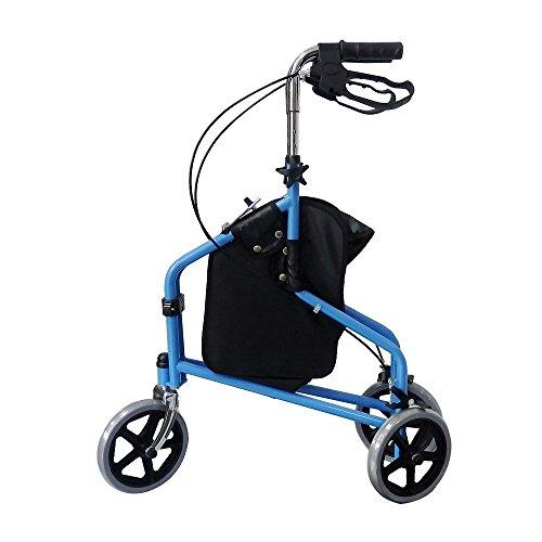 3 Wheel Rollator Walker with Ergonomic...