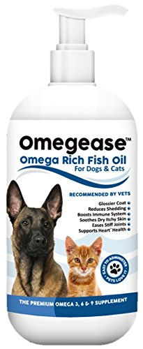 Omegease Omega 3, 6 & 9 Fish Oil for Dogs and Cats, 16 Ounces