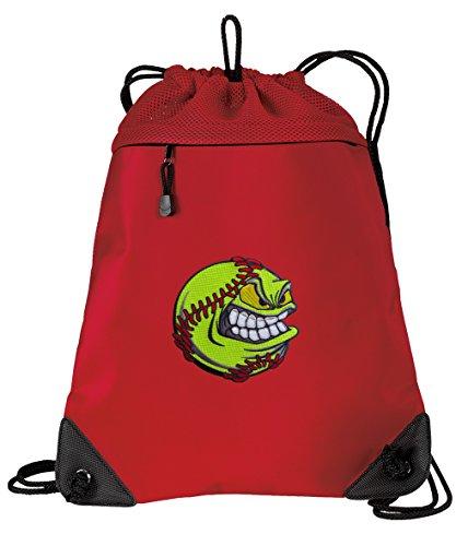 902ed8a7e703 Softball Drawstring Backpack Bag Softball Cinch Pack - UNIQUE MESH ...