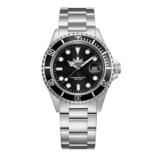 Phoibos Men's Dive Watch Swiss Quartz